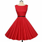 PLUS Women Ladies Vintage Style 50s 60s Swing Pinup Cocktail Party Evening Dress