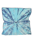 Traditional Cotton Tie Dye Handmade White Abstract Cushion Cover 18 X 18""