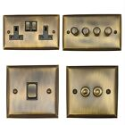Spectrum Antique Bronze SAB3 Light Switches, Plug Sockets, Dimmers, Cooker, TV