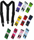 Trousers Brace Straps Unisex Childrens Adjustable Straps with Plastic Clips