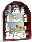 Arch Shape Wall Curio Cabinet Display Case Shadow Box Figurine Display Case