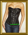 Waist Training Steel Corset Brocade Overbust Shaper  FROM NY XS-2XL