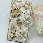 Fashion Bling Diamond Crystal Wallet Case Stand Phone Holder Cover For ZTE