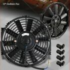 "1 X 12"" Black Electric Slim Push Pull Engine Bay Cooling Radiator Fan Universal"