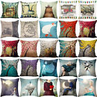 Bear Cup Oil Painting Cotton Linen Pillow Cover Sofa Cushion Covers Pillow Cases