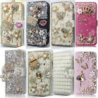 1PCS Bling Diamond Crystal PU Leather Card Wallet Case Stand Cover For Motorola