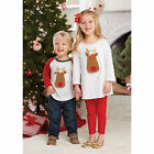 Mud Pie MH6 Night Before Christmas Baby Toddler Girl Reindeer Tunic 1152047