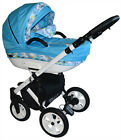 Pram Pushchair 3in1 Baby Stroller Shila Travel System Car Seat+Covers Only 10kg