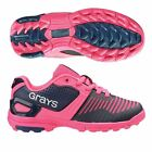 Grays GX550 Junior Hockey Shoes Navy/Pink