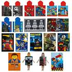 LEGO TOWELS & PONCHOS CHILDRENS COTTON BEACH TOWEL STAR WARS DC COMICS NINJAGO