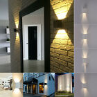 7W 2-Led Outdoor Wall Lamp Surface Mounted Outdoor Cube Porch Light Black Shade