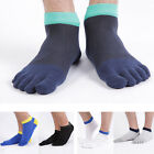Men's Five Toe Cotton Socks Pure Sports Trainer Running Finger Socks Breathable