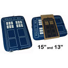 Dr Who/Doctor Who Tardis Zip Up Laptop Bag/Case New + Official BBC - 2 Sizes