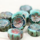 10pcs 14mm PICASSO FLOWER WHEELS CHUNKY CZECH GLASS BEADS - select your color!