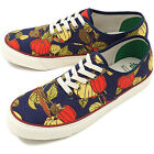PF Flyers WIND JAMMER Mens Navy Red Harvest Print Low Top Fa
