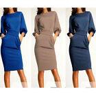 Elegant Women Office Formal Business Work Party Sheath Tunic Pencil Dress Charm