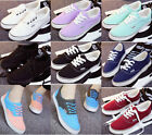 Women/Men's Canvas Sneakers Skate Running Lace Up Flat Casual Shoes 9 Colors New