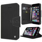 Apple iPhone 7 Flip Case - Synthetic Leather Wallet Cover w Card Slots
