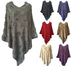 Women Batwing Cape Poncho Knit Top Cardigan Pullover Sweater Coat Outwear Jacket