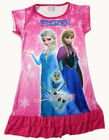 Disney Frozen Elsa Anna Enfants Filles Jupe Pyjama Robe Girls Dress 3-10 HT Rose
