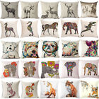 "18"" Embroidery Animal Linen Pillow Case Pillow Cover Sofa Cushion Cover Home Dec"