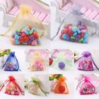 100 Pcs Organza Wedding Party Favor Decoration Gift Candy Sheer Bags Pouches Set