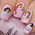 Nail 3D WRAPS Nails Art Water Transfers Decals Disney Princesses Y022