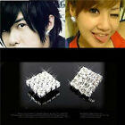 Crystal square Stud Earrings rhinestone Women gift personality statement UK gift