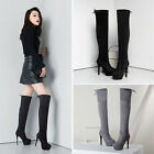 Women Stilettos Platform Round Toe Round Toe Pull On Over The Knee Boots Shoes