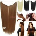 Long Women 100% New Real Full Head Fish Line Hair Extensions THICK As Human T6s