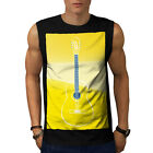 Old Acoustic Guitar Music Art Men Sleeveless T-shirt S-2XL NEW | Wellcoda