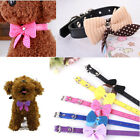Bowknot Adjustable PU Leather Dog Puppy Pet Cat Collars Necklace Neck Lace CA