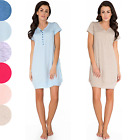 Maternity Pregnancy Nursing Breastfeeding Nightdress Nightie  S-XL 100% COTTON