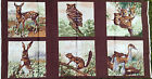 FINAL CLEARANCE : WILDLIFE PANEL of 6 : 60x105cm 100% cotton panel