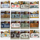 Vintage Metal Car License Plate United States Home Decor Tags Tags Collectible