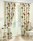 Devon Autumn Floral Print Cotton Lined Tape Top Pair Of Curtains. In 9 Sizes