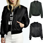 Women Winter Autumn Outwear Casual Long Sleeve Zipper Jacket Short Coat