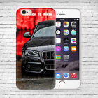 Audi RS sport CAR logo style UV Case Cover for Apple Iphone LG HTC Huawei P9 P10