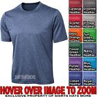 Mens Dri Fit Heathered T-Shirt Moisture Wicking Performance XS-XL 2X, 3X, 4X NEW image