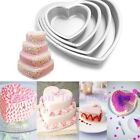 3D Heart 3 Sizes Cake Aluminum Muffin Chocolate Baking Tins Pan Icing Mould Tool