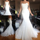 New White/Ivory tulle&lace long-sleeved Wedding Dresses ball Bridal Gown Custom