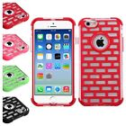 Brick Pattern GloCase Hybrid Armor Cover Case For Apple iPhone 6 6S 4.7 Inches