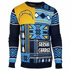 San Diego Chargers Forever Collectibles KLEW Patches Ugly Sweater Sizes S-XXL $30.79 USD on eBay