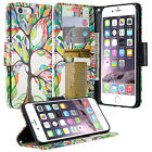 For Apple iPhone 6 7 8 Plus Wallet Case PU Leather Phone Cover Card Slot Stand