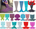 US Super Soft Warm Hand-Crocheted Mermaid Tail Blanket Sofa Blanket ADULT  image