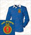 HMS INTREPID Embroidered Crested Premium Long Sleeved Rugby Shirt