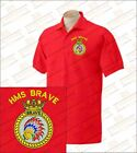 HMS BRAVE Embroidered Polo Shirts