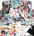 Men's Floral Pattern Multi Colour white Shirt Cotton Vintage Design Button Down