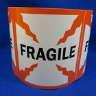 """Fragile 4""""x4"""" - Packing Shipping Handling Warning Label Stickers"""