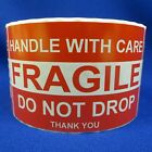 """Handle With Care Fragile Do Not Drop Thank You 3""""x5"""" - Packing Shipping Labels"""